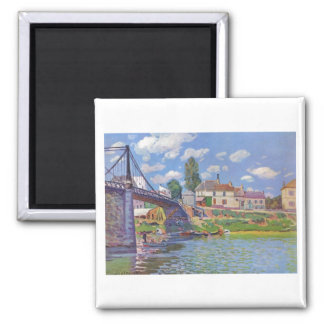 Alfred Sisley Brücke vn Villeneuve-la-Garenne 1872 Magnet