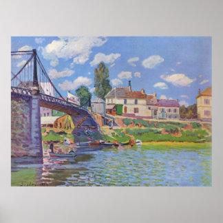 Alfred Sisley Brücke vn Villeneuve-la-Garenne 1872 Poster