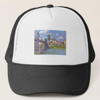 Alfred Sisley Brücke vn Villeneuve-la-Garenne 1872 Trucker Hat