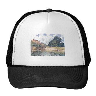 Alfred Sisley - Brücke von Hampton Court 1874 Oil Trucker Hat