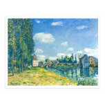 Alfred Sisley - Brücke von Moret im Sommer 1888 Postcard