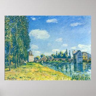 Alfred Sisley - Brücke von Moret im Sommer 1888 Poster