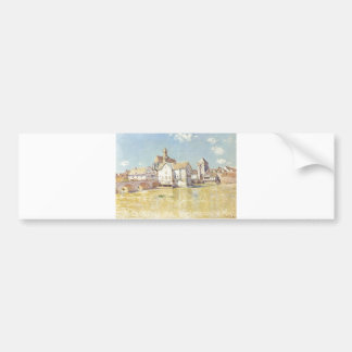 Alfred Sisley Brücke von Moret in der Morgensonne Bumper Sticker