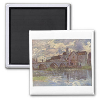 Alfred Sisley - Brücke von Moret-sur-Loing 1885 Magnet