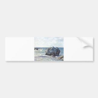 Alfred Sisley - Bucht von Langland mit Felsen 1887 Bumper Sticker