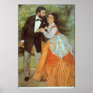 Alfred Sisley by Pierre Renoir Posters