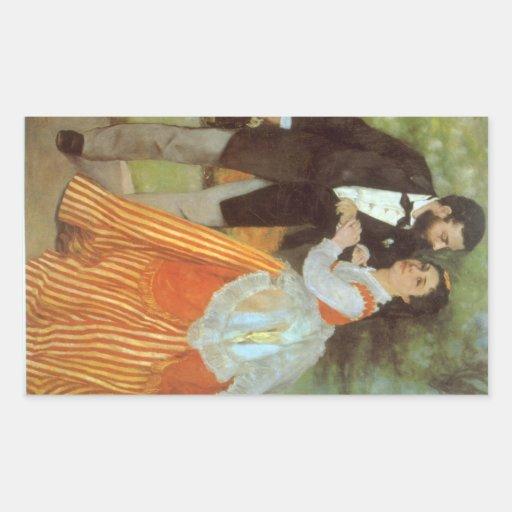 Alfred Sisley by Pierre Renoir Rectangular Sticker