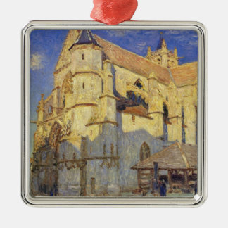 Alfred Sisley | Church at Moret, Frosty Weather Metal Ornament