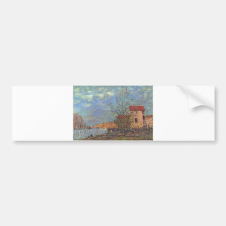 Alfred Sisley - Der Loing bei Moret 1881Oil Bumper Sticker