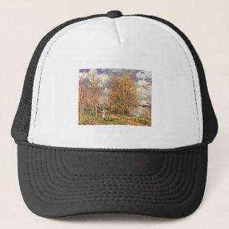 Alfred Sisley Die kleinen Wiesen im Frühling 1880 Trucker Hat