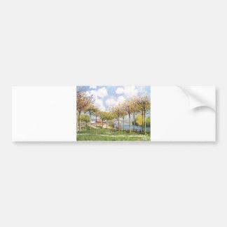 Alfred Sisley - Die Seine bei Bougival 1876 Bumper Sticker