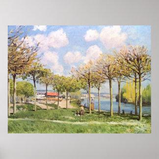 Alfred Sisley - Die Seine bei Bougival 1876 Poster