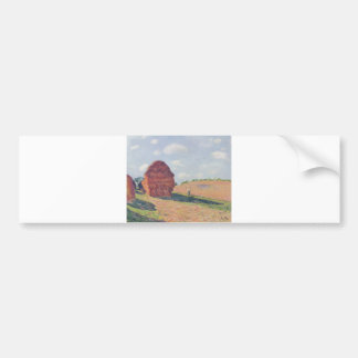 Alfred_Sisley - Die Strohmieten 1895 Oil on Canvas Bumper Sticker