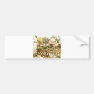 Alfred Sisley - Die Wäscherinnen von Moret 1888 Bumper Sticker