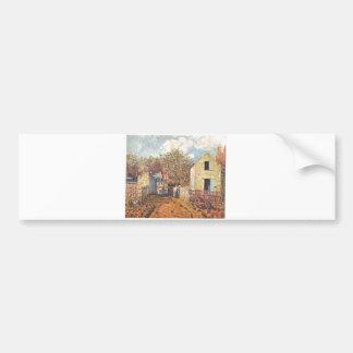 Alfred Sisley - Dorf von Voisins, Village Oil 1874 Bumper Sticker
