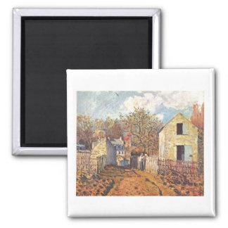 Alfred Sisley - Dorf von Voisins, Village Oil 1874 Magnet