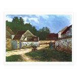 Alfred Sisley - Dorfstrasse en el aceite de Tarjetas Postales