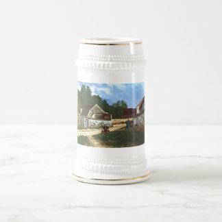 Alfred Sisley - Dorfstrasse in Marlotte 1866 Oil Beer Stein