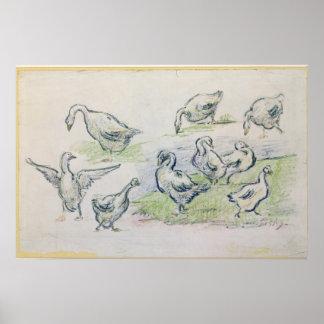 Alfred Sisley | Ducks Poster