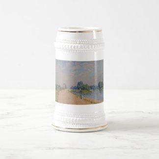 Alfred Sisley el camino al Hampton Court 1874 Jarra De Cerveza