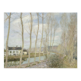 Alfred Sisley - el canal del Loing Tarjetas Postales