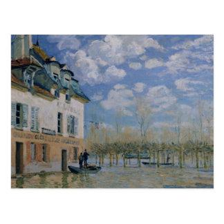 Alfred Sisley el | el barco en la inundación, Tarjeta Postal