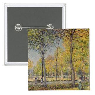 Alfred Sisley el | el Bois de Boulogne Pin Cuadrado