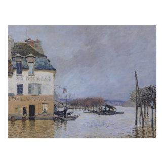 Alfred Sisley el | la inundación en Puerto-Margoso Postales
