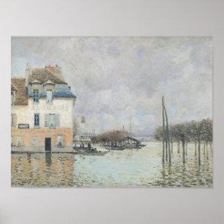 Alfred Sisley el | la inundación en Puerto-Margoso Póster