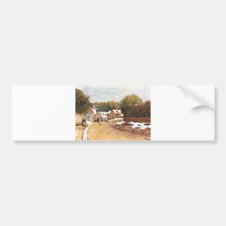 Alfred Sisley Erster Schnee in Louveciennes 1870 Bumper Sticker