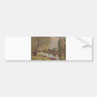 Alfred Sisley Flußlandschaft Moret-sur-Loing 1890 Bumper Sticker