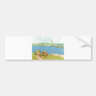 Alfred Sisley - Flussufer 1890 Geese Donkey Cart Bumper Sticker