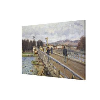 Alfred Sisley | Footbridge at Argenteuil Canvas Print