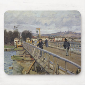 Alfred Sisley | Footbridge at Argenteuil Mouse Pad