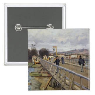 Alfred Sisley | Footbridge at Argenteuil Pinback Button