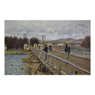 Alfred Sisley | Footbridge at Argenteuil Poster