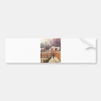 Alfred Sisley Garten im Louveciennes Schnee 1874 Bumper Sticker