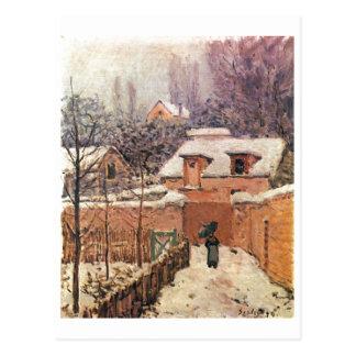 Alfred Sisley Garten im Louveciennes Schnee 1874 Postcard