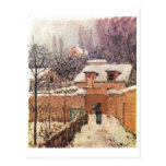 Alfred Sisley Garten im Louveciennes Schnee 1874 Tarjeta Postal