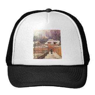 Alfred Sisley Garten im Louveciennes Schnee 1874 Trucker Hat