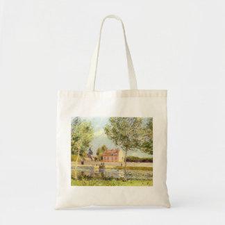 Alfred Sisley Häuser am Ufer der Loing 1889 Tote Bags