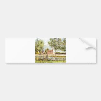 Alfred Sisley Häuser am Ufer der Loing 1889 Bumper Sticker