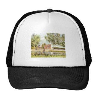 Alfred Sisley Häuser am Ufer der Loing 1889 Mesh Hat