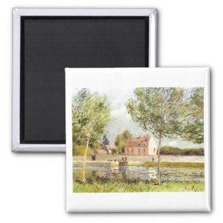 Alfred Sisley Häuser am Ufer der Loing 1889 Magnet