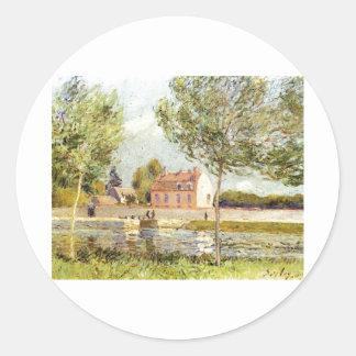 Alfred Sisley Häuser am Ufer der Loing 1889 Sticker