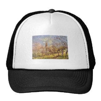 Alfred Sisley - huerta en primavera. Lona del acei Gorros