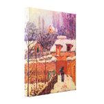 Alfred Sisley - jardín en la nieve Impresiones De Lienzo