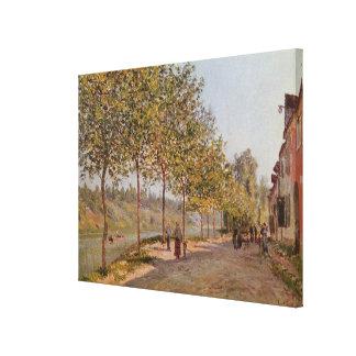 Alfred Sisley   June Morning in Saint-Mammes Canvas Print
