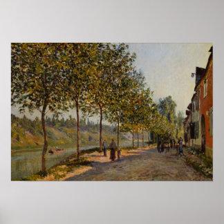 Alfred Sisley - June Morning in Saint-Mammès Poster