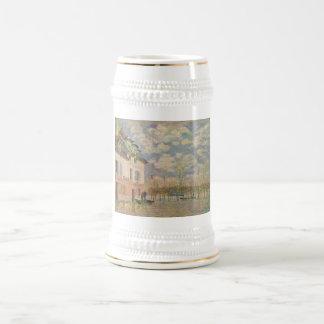 Alfred Sisley Kahn in der Überschwemmung 1876 18 Oz Beer Stein